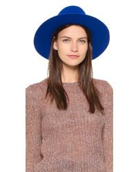 Chapeau en laine bleu Brixton