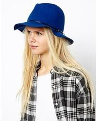 Chapeau en laine bleu Esprit