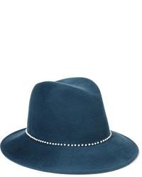 Chapeau en laine bleu Eugenia Kim