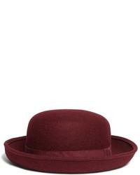 Chapeau en laine bordeaux