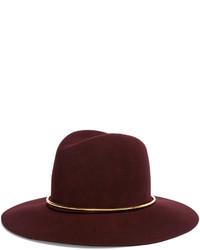 Chapeau en laine bordeaux Janessa Leone
