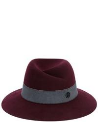 Chapeau en laine bordeaux Maison Michel