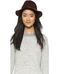 Chapeau en laine bordeaux Rag & Bone