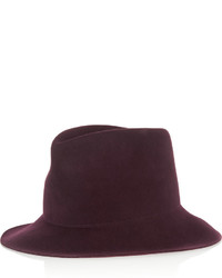 Chapeau en laine bordeaux Stella McCartney