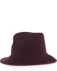 Chapeau en laine bordeaux Stella McCartney
