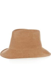 Chapeau en laine brun clair Stella McCartney
