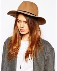 Chapeau en laine brun Asos