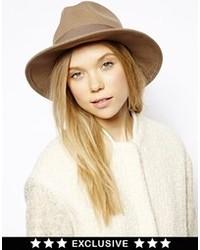 Chapeau en laine brun Catarzi
