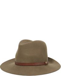 Chapeau en laine brun Rag & Bone