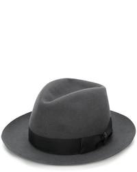 Chapeau en laine gris foncé Borsalino