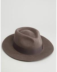 Chapeau en laine gris foncé Brixton