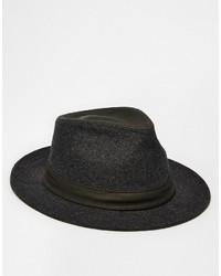 Chapeau en laine gris foncé Goorin Bros.