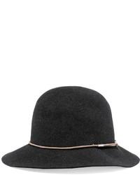 Chapeau en laine gris foncé Rag & Bone