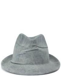 Chapeau en laine gris Borsalino