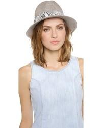Chapeau en laine gris Eugenia Kim