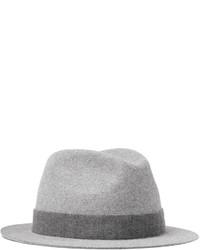 Chapeau en laine gris Loro Piana