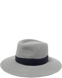 Chapeau en laine gris Maison Michel