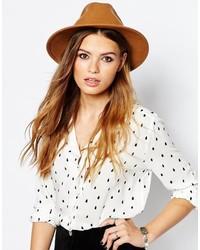 Chapeau en laine marron clair Catarzi