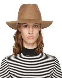 Chapeau en laine marron clair Harmony