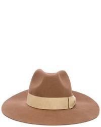 Chapeau en laine marron clair Paul Smith