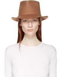 Chapeau en laine marron clair Stella McCartney
