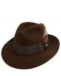 Chapeau en laine marron foncé