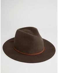 Chapeau en laine marron foncé Brixton