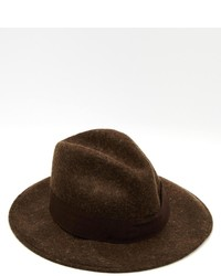 Chapeau en laine marron foncé Catarzi