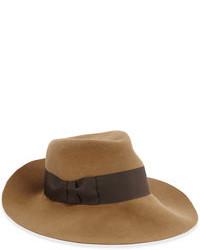 Chapeau en laine marron