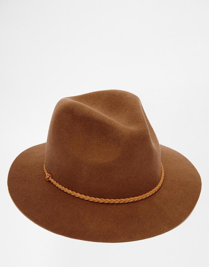 Chapeau en laine marron Asos