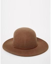 Chapeau en laine marron Brixton
