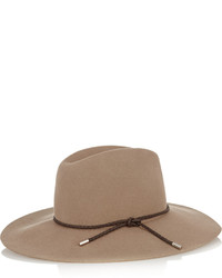 Chapeau en laine marron Emilio Pucci