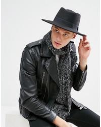 Chapeau en laine noir ASOS DESIGN