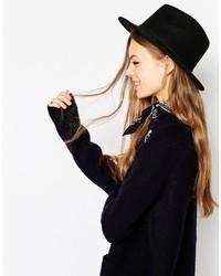 Chapeau en laine noir Asos