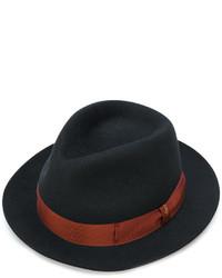 Chapeau en laine noir Borsalino