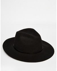 Chapeau en laine noir Catarzi