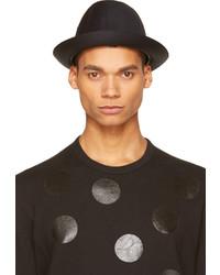 Chapeau en laine noir Comme des Garcons
