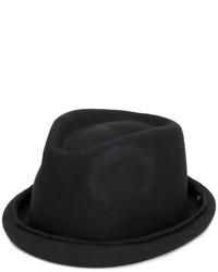 Chapeau en laine noir Isabel Benenato