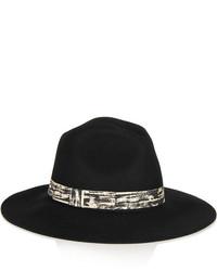 Chapeau en laine noir Karl Lagerfeld