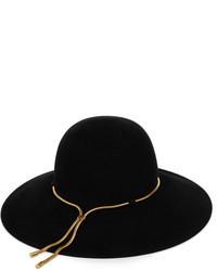 Chapeau en laine noir Lanvin