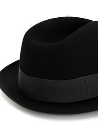 Chapeau en laine noir Paul Smith