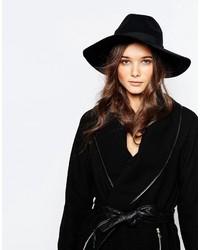 Chapeau en laine noir Pieces