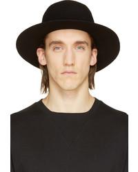 Chapeau en laine noir Robert Geller