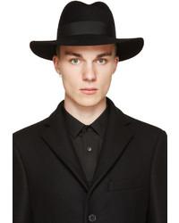 Chapeau en laine noir Saint Laurent