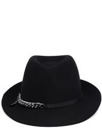 Chapeau en laine noir Stella McCartney