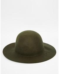 Chapeau en laine olive Asos