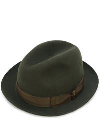Chapeau en laine olive Borsalino