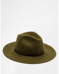Chapeau en laine olive Catarzi
