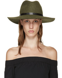 Chapeau en laine olive Rag & Bone