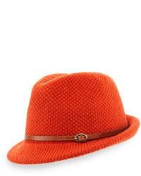 Chapeau en laine orange